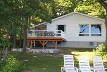 Bayshore  / Located near the end of the Cottage Road, Bayshore is a large four bedroom cottage, with private deck, dock and campfire pit.