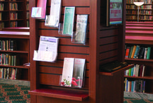Display Zones / The Display Zone's purpose is to grab the attention of library visitors an convey a message or information,or showcase an achievement.