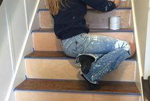 painting laminate floors / House