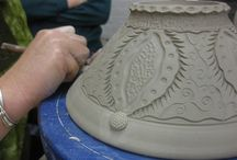 Pottery carving