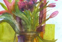 TULIPS / Different tulip watercolours