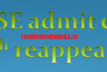 result, admit card / all related things about exam result and registration.