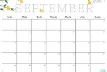 印刷可能なカレンダー