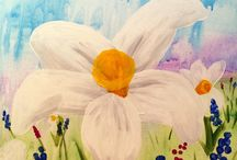 """Pop & Paint classes in August '16 / This collection of images represents the """"paint and sip"""" classes that are being offered in Portland Oregon for August 2016 for locally owned and operated, Pop & Paint!  Join us as we provide all of the painting supplies for you and you receive step-by-step instructions by a local artist."""