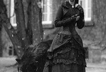 Black dress / Gothic, chic, haute couture