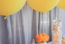 Yellow + Grey Candy Station / This perfectly spring colour palette, set with a grey neutral tone and a bold statement of yellow, ensured this pretty Candy Station was the feature of this wedding reception. Framed with beautiful and bright Ranunculus and gorgeous Lemon Geronimo Balloons, drawing your eye across this exquisitely themed table towards delectably sweet candy treats.  SEE FILM HERE: https://youtu.be/Wg7byFyjRcY  Copyright © Enchanted Empire