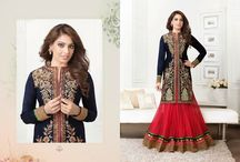 Bipasha / Very Beautiful and Attractive Georgette anarkali with Shantoon Bottom and Chiffon Dupatta. Best suitable for Ceremonial and Wedding Occasions.