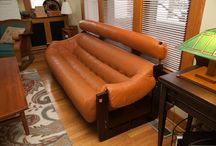 Furniture / Percival Lafer sofa and chairs