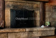 Gorgeous Fireplaces / Need a fireplace mantle?  You can purchase yours through our new e-commerce site at http://www.oldewoodltd.com/products/fireplace-mantels/shop/ / by Olde Wood Limited