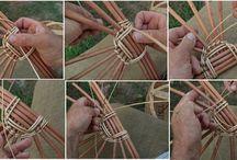 Pletení z proutí ,, kořene sosny a jiných materiálů /krom ruliček/