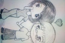 Moje Kresby: / Tu sú všetky kresby namaľované mnou(Emmou) a mnou (VeVeDance)