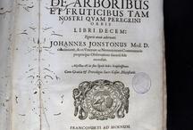 APADRINAT! Dendrographias sive Historiae naturalis de arboribus et fruticibus tam nostri qvam ... / 1a edició de l'obra de Jonston, metge i naturalista. Conté la descripció de prop de 2000 arbres. D'aquests, uns 1800 es troben representats amb els seus fruits, en les 137 làmines calcogràfiques de remarcable qualitat. Kaspar i Matthias Merian en foren els gravadors, encara que el bonic frontispici va ser dibuixat pel seu pare, Matthaeus Merian, i gravat per Melchior Küsell. Aquesta obra està considerada com una de les primeres contribucions impreses sobre l'estudi dels arbres i els seus fruits.