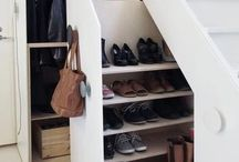 Treppe / Schuhe / Garderobe