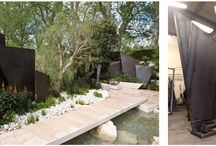 RHS Chelsea Flower Show 2016 | Our Work / A set of 17 large bronze fins, in different sizes, which we manufactured for multi award-winning designer Andy Sturgeon FSGD as part of his Gold Medal and Best Show Garden winner at the 2016 RHS Chelsea Flower Show