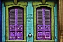Architecture - Doors Around the World / When one door opens..... I love the unique doors that are around the World.  All things that are outdoor doors, indoor doors, door knockers and door handles!   / by Ginny Toll