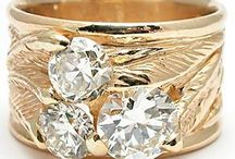 Wide Band Diamond Rings