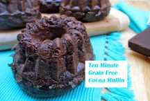 Paleo chocolate muffin