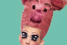 Avant Garde hairstyle / crazy hairstyles created with hair pieces.   all hairstyles done by www.candice-style.com