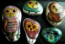 """Owls / I'm working on a series of owl water color paintings """"Life's a Hoot"""". These are some images that I have used for inspiration as well as some of my finished work. Hoot hoot! / by Michele"""