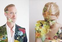 Mixed media portraits