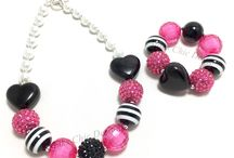 MAKS HEART COLLECTION / Chunky heart necklaces and chunky heart bracelets. Perfect girls valentines day jewelry