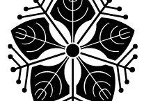 Family crest Ⅳ / itadari虎杖,itayagai板屋貝,ichou,銀杏,izutu井筒