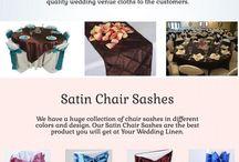 Satin Chair Sashes