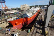 Double doking operations in Nauta / In two docks in Nauta Yard in Gdynia simultaneous repairs of 4 vessels took place (September 2016).