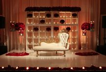 Indian Wedding Sweetheart Tables / Sweetheart table, decor, lighting, staging inspiration.
