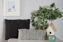 knitted cable cushions
