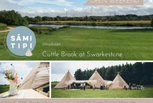 "Open Event Sept 2015 / We are really pleased to introduce to you a NEW Sami Tipi wedding field in Swarkestone Derbyshire!  We will be showcasing this gorgeous new waterfront site called ""Cuttle Brook at Swarkestone"" on Saturday 26th & Sunday 27th September with 2 of our giant hat tipis and a selection of awesome wedding suppliers.   So if you have been considering a more relaxed wedding in the Derbyshire area this is the perfect event for you."