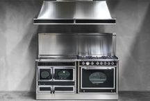 Exclusive bespoke kitchen combination ranges / Italian style and quality, stunning wood burning range cookers with gas and electric hobs and ovens.