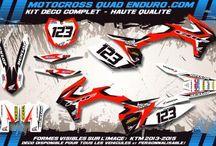 Kit deco perso 50 CRF / Kit déco perso pour motocross quad et enduro