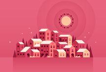 city illust vector