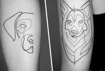 Kutyás tattoo