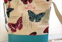 kézműves táskák / táska egyedi kézműves textil bőr