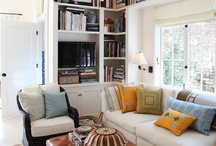 Library / I love books and have the perfect spot in my house for a library... complete with sunny window seat. Definitely a someday project, but there's no harm in dreaming...