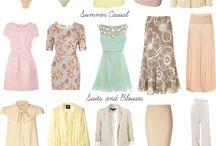 Autumn lookbook / Outfit building for autumn colours