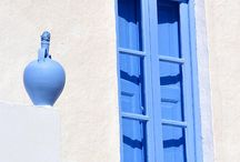 Blue and white (colours of Greece)