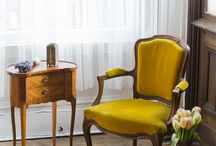 French Vintage Vie Chairs / From rustic vintage to fine Louis XV style antique chairs and sofas - all sourced from France