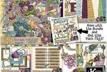 Bundles - Digital Scrapbooking from Kathryn Estry / Save 50% with these Digital Scrapbooking Discount Bundles!