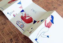Birth card design inspiration