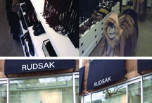 RUDSAK: WINDOW DISPLAY COLLAGE / A collage of images from the store display at Queen street where we had our interview plus from Yorkdale mall as well. A comparison and contrast between the 2 different layouts of the stores.