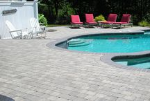 Outdoor pool and living space