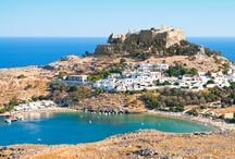 Rhodes / With stunning sunsets, fresh-caught traditional food and 3,000 hours of sun a year it's no wonder that Rhodes is one of the most popular Greek island destinations. You can expect flights to Rhodes to take around four hours from the UK. http://www.monarch.co.uk/greece/rhodes/flights