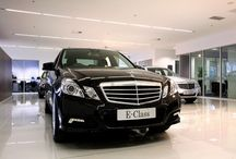 Mercedes Benz Showroom Sydney  / The spectacular showroom at Mercedes Benz Sydney accommodates an outstanding range of luxury vehicles. The lighting presents these magnificent cars at their best and helps create an exceptional experience for the purchaser.