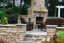 Outdoor Fireplaces / Outdoor Living Spaces with a Fireplace