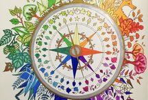 Coloring Books - Joyful Design / Adult coloring books, Johanna Basford, coloring, adult coloring, Prismacolor color pencils, coloring book
