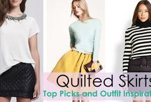 Quilted Skirt Outfits