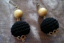 Crocheted jewellery! / Crocheted earrings!